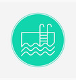 swimming pool icon sign symbol vector image