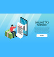 tax service online banner vector image