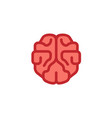 the brain pinky logo vector image vector image