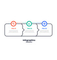 three steps modern directional infographic vector image vector image