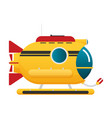 transportation submarine flat icon vector image vector image