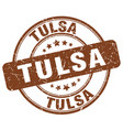 tulsa stamp vector image vector image