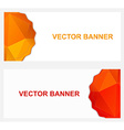 two abstract horizontal banner with red and orange vector image