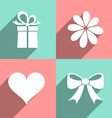 Valentine icons vector image vector image