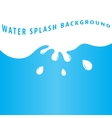 Water splash background vector image