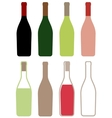 wine bottles icons vector image vector image