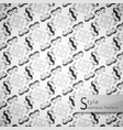 abstract seamless pattern flower grid white vector image