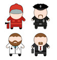 profession and stuff characters set vector image