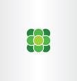 green atom suqare with circle logo icon vector image