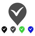 ok marker flat icon vector image