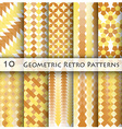 10 Geomatric Retro Pattern Graphic Design vector image