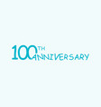 100 anniversary logo concept 100th years birthday vector image vector image