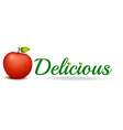 A delicious apple vector image