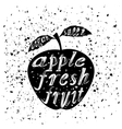 Apple Icon Typography Design with Lettering vector image