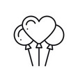 balloon air balloon line heart icon love sign vector image