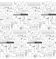 Bath accessories hand drawn seamless pattern vector image vector image