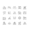 beach line icons signs set outline vector image vector image