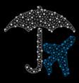 bright mesh network aviation umbrella with light vector image vector image