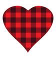 buffalo plaid heart vector image