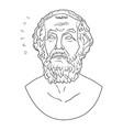 bust of the greek poet homer vector image