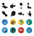 car alarm wheel rim security camera parking vector image