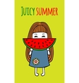 Card juicy summer vector image
