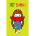 Card juicy summer vector image vector image