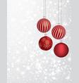 christmas balls with a snowflake vector image vector image