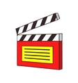 Clapperboard icon cartoon style vector image vector image