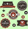 coffee labels in retro style vector image vector image