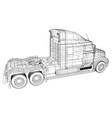 commercial cargo delivery truck isolated created vector image vector image