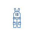 construction overalls line icon concept vector image vector image