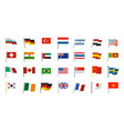 country flag icon set flat style vector image