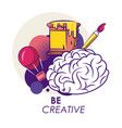 creative ideas and colors vector image