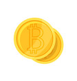 crypto currency bitcoin flat style vector image vector image
