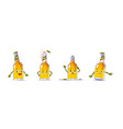cute beer bottle character in different poses vector image vector image