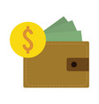 flat design dollar currency vector image vector image