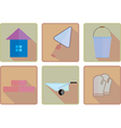 flat working icons vector image vector image