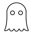 ghost icon black color flat style simple image vector image