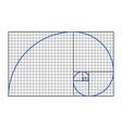 golden ratio symbol vector image