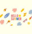 hello summer season poster template with silk vector image vector image