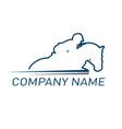 horse racing logo vector image