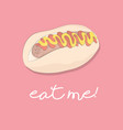 hot dog print american fast food meal vector image