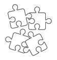 Jigsaw puzzles icon outline style vector image vector image