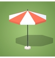 Low poly sun umbrella vector image