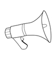 megaphone sound equipment vector image