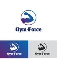 minimalistic gradient gym logo Fitness vector image