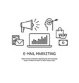 modern flat design e-mail marketing concept vector image