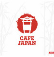 modern professional sign logo cafe japan vector image