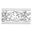 modern undulate band is wavelike floral design vector image vector image